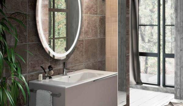Composizione mobili moderni da bagno in ecolegno made in italy genova