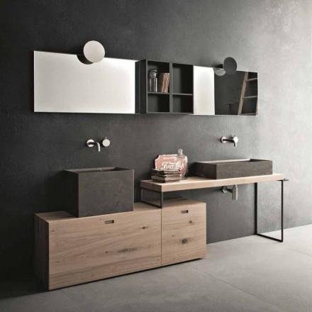 Composizione Moderna da Bagno di Mobili Design a Terra Made in Italy - Farart6