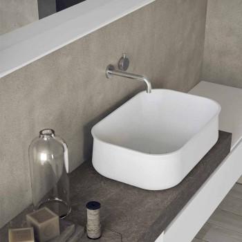 Composizione Moderna e Sospesa di Mobili per il Bagno di Design - Callisi2