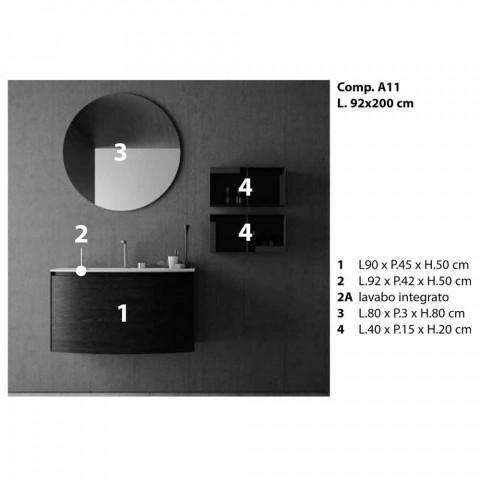 Composizione per il Bagno Sospesa di Design Moderno Made in Italy - Callisi11