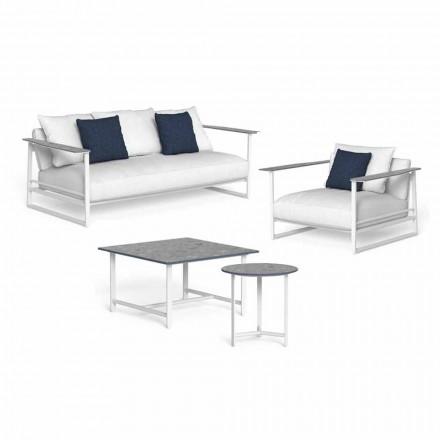 Composizione Salotto da Esterno Design in Alluminio e Gres - Riviera by Talenti