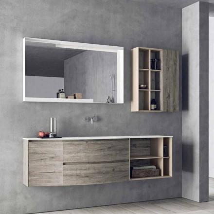 Composizione Sospesa di Design, Mobili Moderni di Design per il Bagno - Callisi5