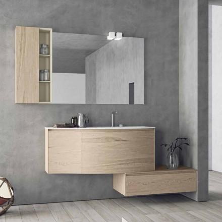 Composizione Sospesa e Moderna per il Bagno, Design Made in Italy - Callisi4