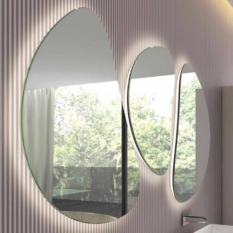 Composizione Specchi da Parete Design Moderno Sagomato 3 Pezzi - Fagiolao