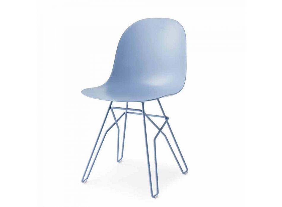 Connubia Calligaris Academy sedia design moderno made in Italy, 2 pz