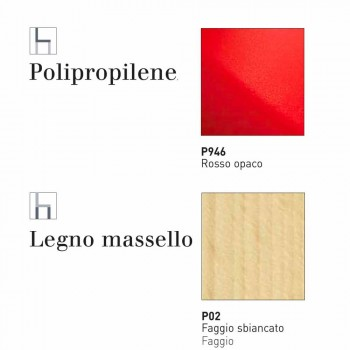 Connubia Calligaris Academy sedia di design base in massello, 2 pezzi
