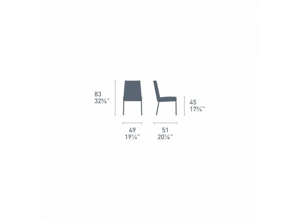 Connubia Calligaris Academy sedia in polipropilene di design, 2 pezzi