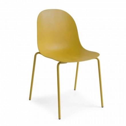 Connubia  Academy sedia in polipropilene di design, 2 pezzi