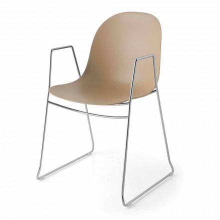 Connubia  Academy sedia moderna in polipropilene, 2 pezzi