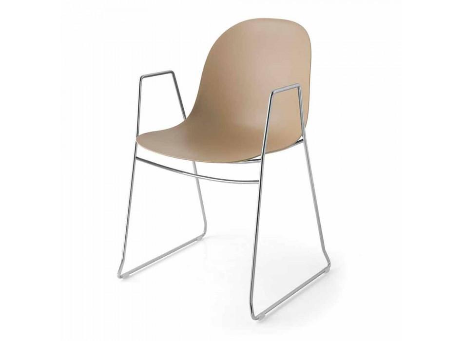 Connubia Calligaris Academy sedia moderna in polipropilene, 2 pezzi