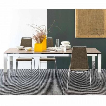 Connubia  Baron tavolo allungabile ceramica-vetro,L130/190
