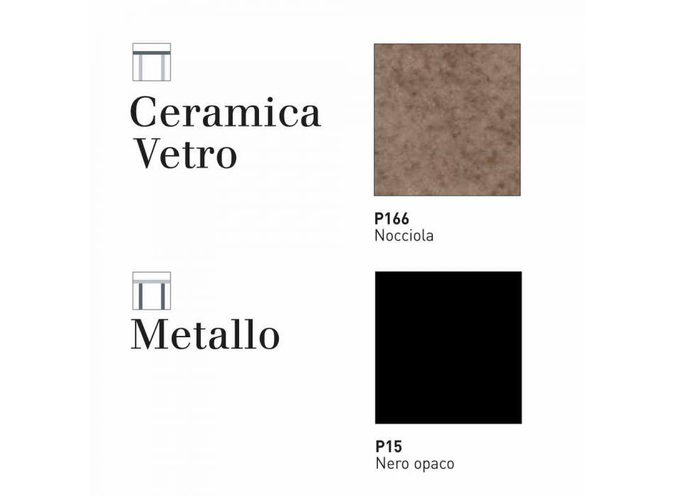Connubia Calligaris Baron tavolo allungabile ceramica-vetro,L130/190