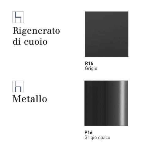 Connubia CalligarisBohemesedia in cuoio e metallo moderna, 2 pezzi