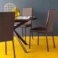 Connubia  Garda sedia moderna in tessuto e metallo, 2 pezzi