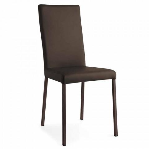 Connubia Calligaris Garda sedia moderna in tessuto e metallo, 2 pezzi