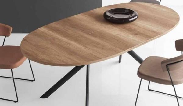 Tavolo Ovale Calligaris : Connubia calligaris giove tavolo ovale allungabile in legno l cm