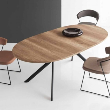 Connubia Calligaris Giove tavolo ovale allungabile in legno,L140/190cm