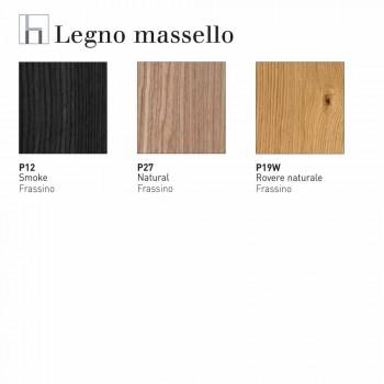 Connubia Calligaris Jam W sgabello design moderno in legno, 2 pezzi