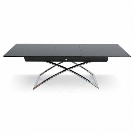 Connubia Magic-J tavolino allungabile in vetro, L115/150cm