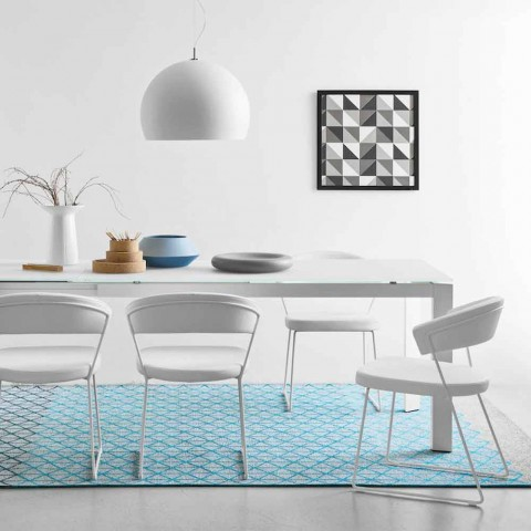Connubia Calligaris New York sedia in pelle design moderno, 2 pezzi