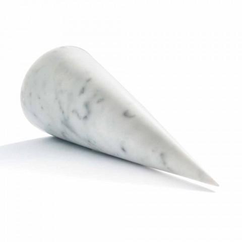 Cono Decorativo Grande in Marmo Bianco di Carrara Made in Italy - Connu