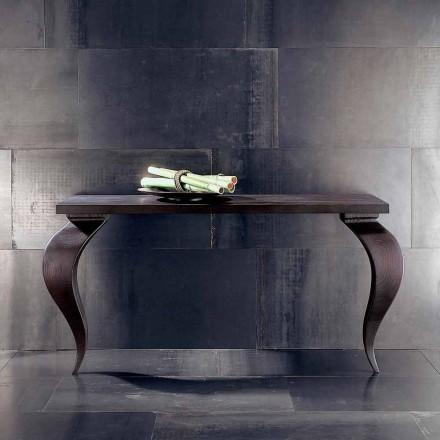 Console design moderno di lusso in legno massello, L150xP50cm,Tino