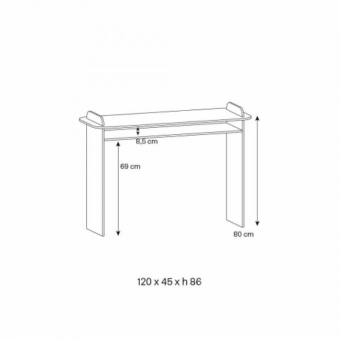 Consolle a Muro per Ingresso in Vetro Extrachiaro Design Minimale - Salvie
