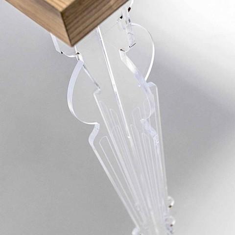 Consolle a Parete in Plexiglass Trasparente e Legno di Design Moderno - Betone