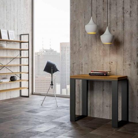 Consolle allungabile a libro moderna in legno nobilitato, Badesi