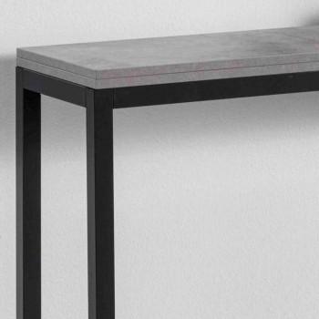 Consolle Allungabile con Piano in Nobiliato e Base in Metallo Verniciato - Adino