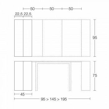 Consolle Allungabile Fino a 295 cm in Legno di Design Made in Italy - Temocle