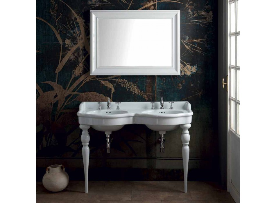 Consolle da bagno classica a doppia vasca fatta in Italia, Magda