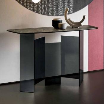 Consolle da Salotto di Design in Ceramica e Vetro Made in Italy – Random