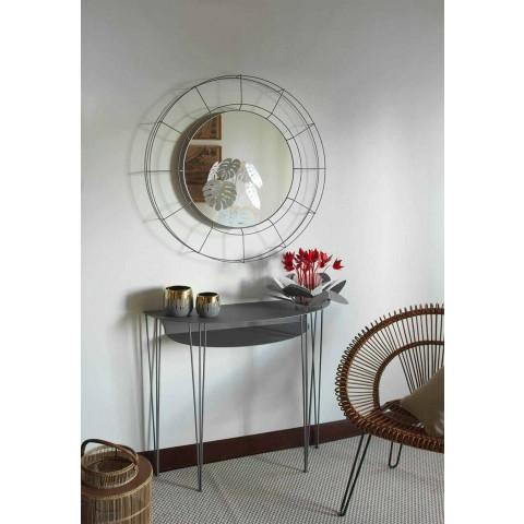 Consolle da Salotto in Stile Moderno in Acciaio Made in Italy – Adalgiso