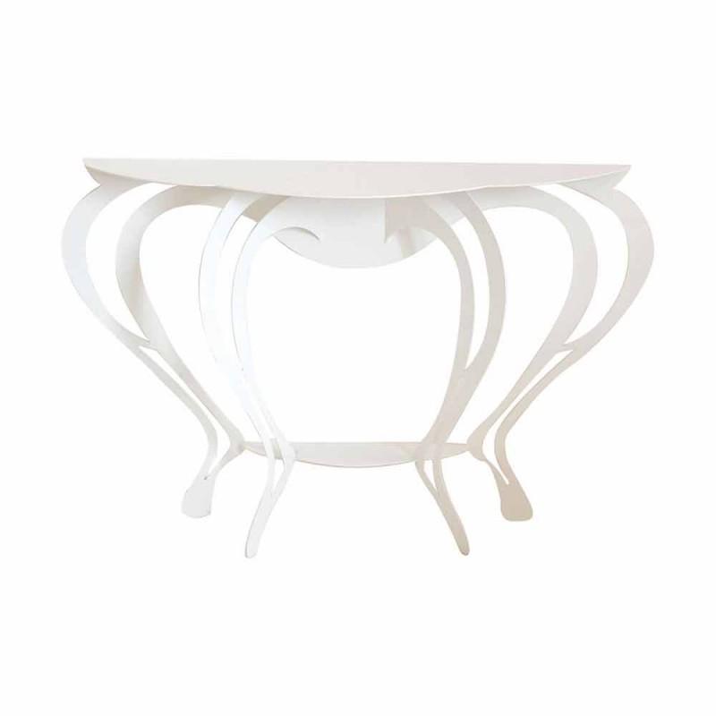 Consolle da Salotto in Stile Moderno in Ferro Colorato Made in Italy – Barbata
