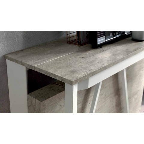 Consolle Design Allungabile in Legno Nobilitato e Metallo Made in Italy - Lionel