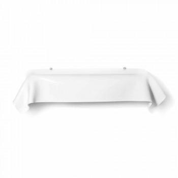 Consolle design moderno in plexiglass bianco drappeggiato Wish