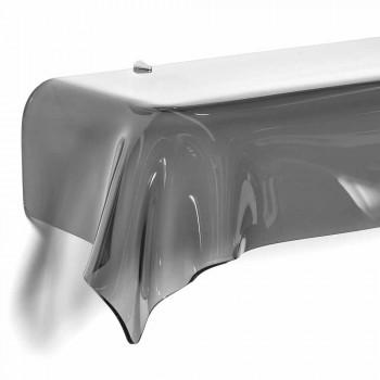 Consolle design moderno in plexiglass fumé traspar. drappeggiato Wish