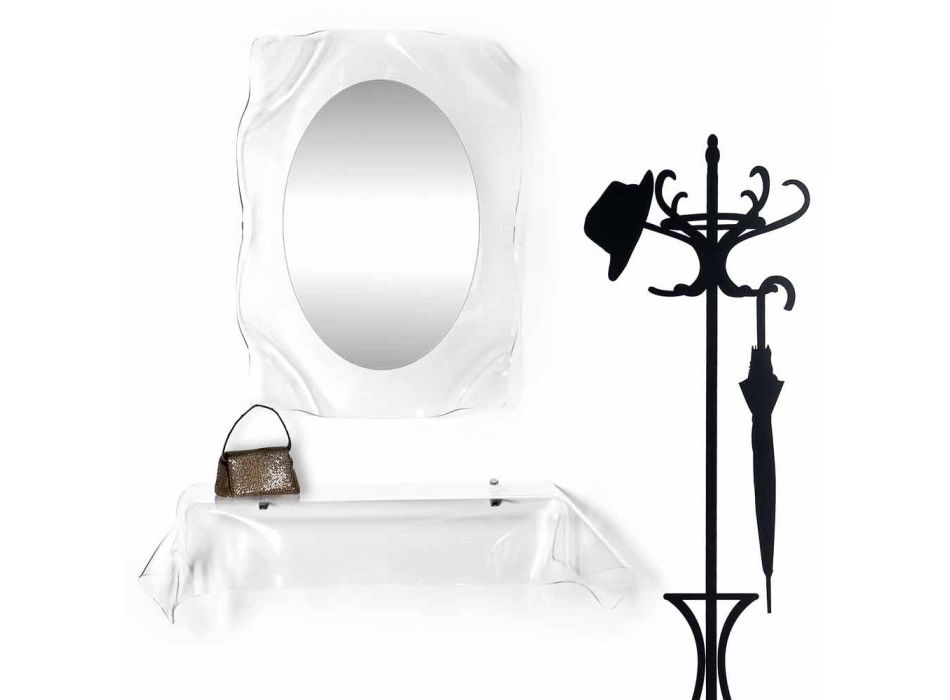 Consolle design moderno in plexiglass trasparente drappeggiato Wish