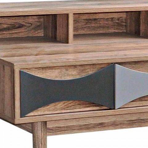 Consolle di Design Moderno in Legno di Pino e Mdf con 3 Cassetti - Aruspice