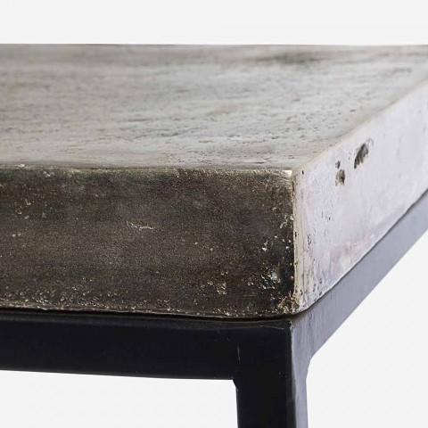 Consolle di Design Moderno Minimale in Acciaio 2 Pezzi Homemotion - Rambutan