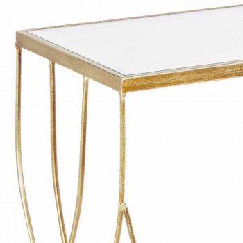 Consolle Elegante in Acciaio e Vetro di Design Moderno e Glamour 2 Pezzi - Irene