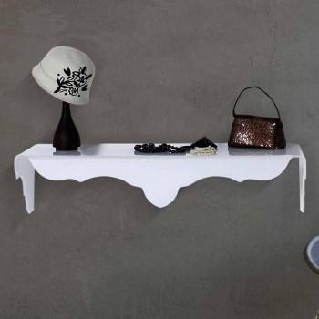 Consolle fissa a muro colore bianco di design Bianca, made in Italy