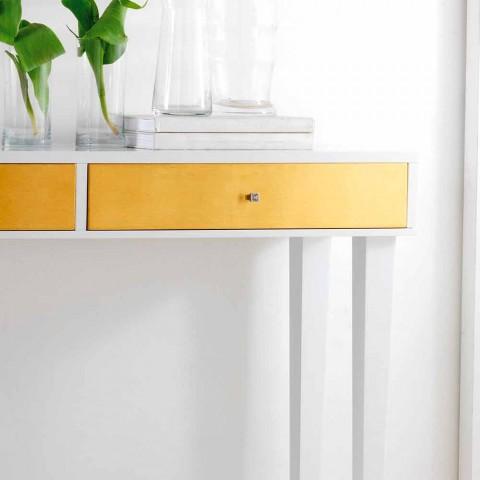 Consolle fissa in legno con cassetti Beel, design moderno