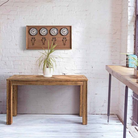 Consolle in Legno di Olmo Reciclato con Piano di Design Homemotion - Galanga
