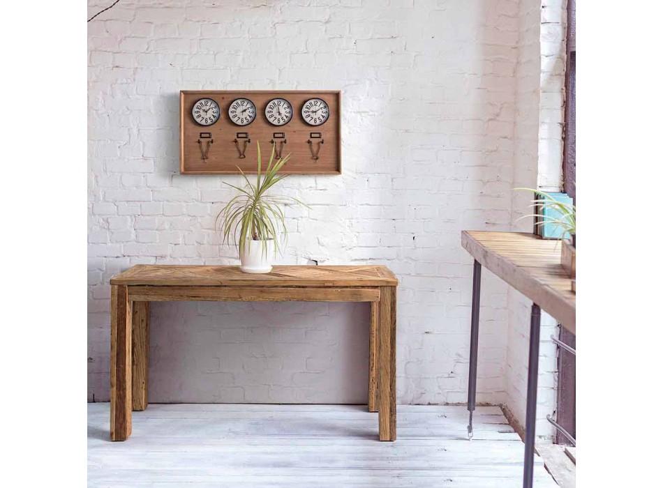 Consolle in Legno di Olmo Reciclato con Piano di Design Homemotion - Galanga