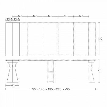 Consolle in Legno e Metallo Allungabile Fino 295 cm Made in Italy - Timedio