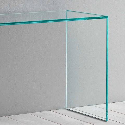 Consolle in Vetro Extrachiaro Design Minimale Elegante 2 Dimensioni - Selex