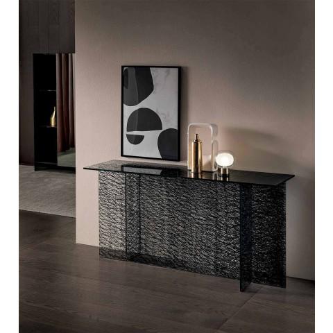Consolle Ingresso di Design Vetro Extrachiaro Decorato Made in Italy – Sestola