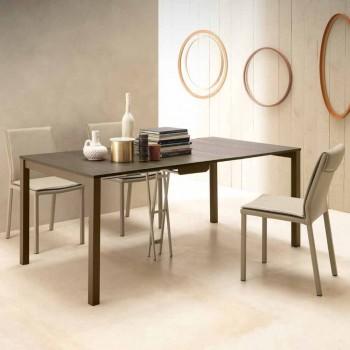 Consolle Moderna Allungabile in Legno Rovere e Metallo Made in Italy - Nappo